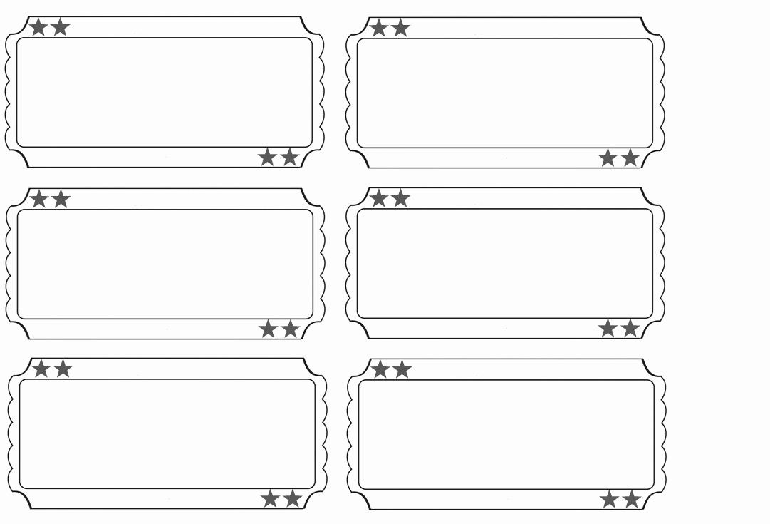 Admit One Ticket Template Printable Elegant 6 Best Of Free Printable Circus Ticket Templates