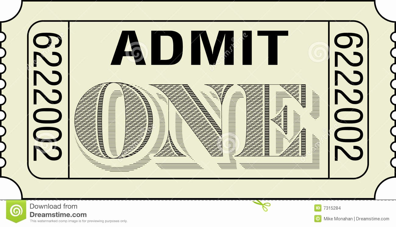 Admit One Ticket Template Printable Fresh Admit E Template Example Mughals