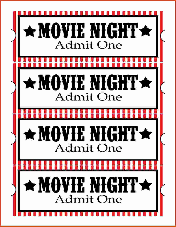 Admit One Ticket Template Printable Fresh Best Admit E Movie Ticket Template Invitations Blank Jpg