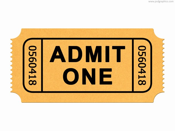 Admit One Ticket Template Printable Lovely Ticket Templates Clipart Best