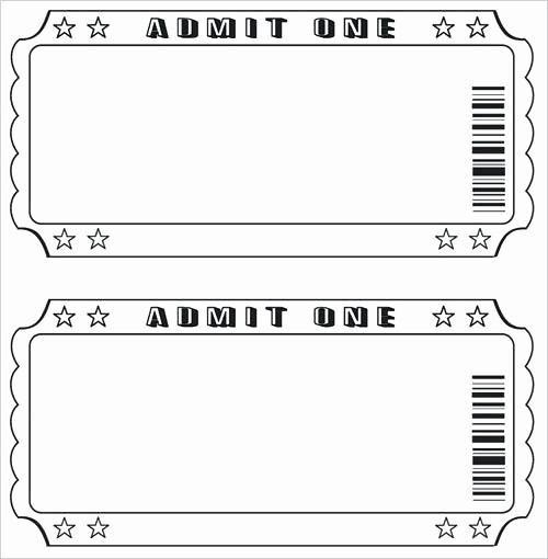 Admit One Ticket Template Printable Luxury Cdfddbffcedbab Ticket Template Free