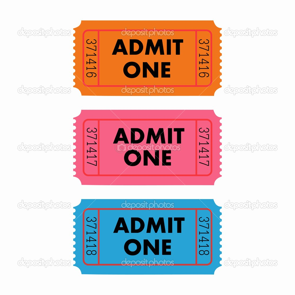 Admit One Ticket Template Printable Unique Admit One Ticket Template Free Printable