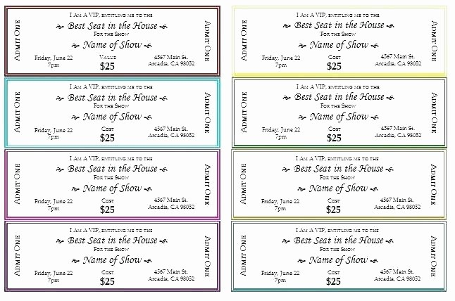 Admit One Ticket Template Printable Unique Blank Admit E Ticket Template for Boyfriend event