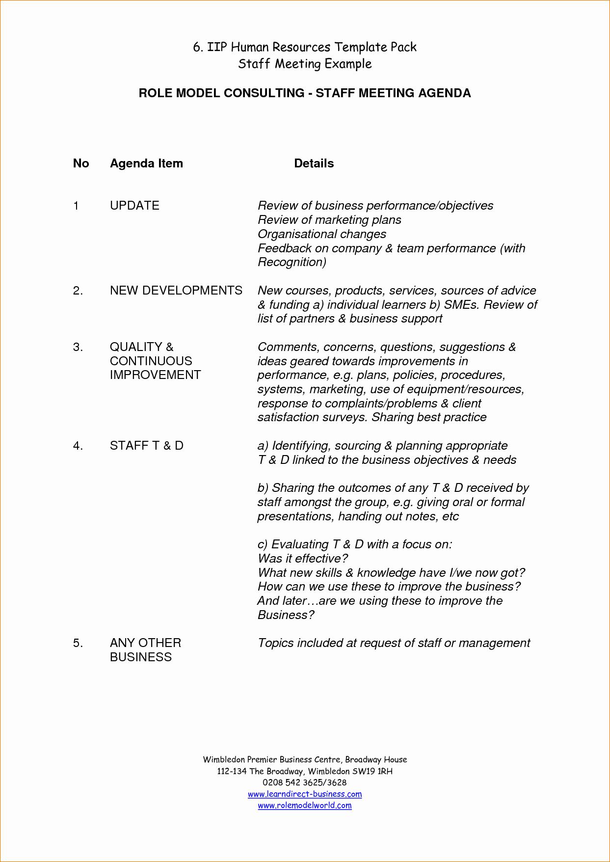 Agenda Example for Staff Meeting Beautiful 11 Staff Meeting Agendaagenda Template Sample