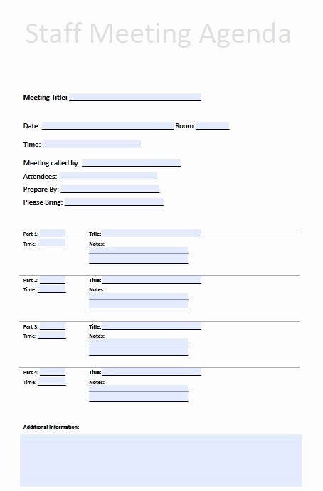 Agenda Example for Staff Meeting Inspirational Printable Template Staff Meeting Minutes to