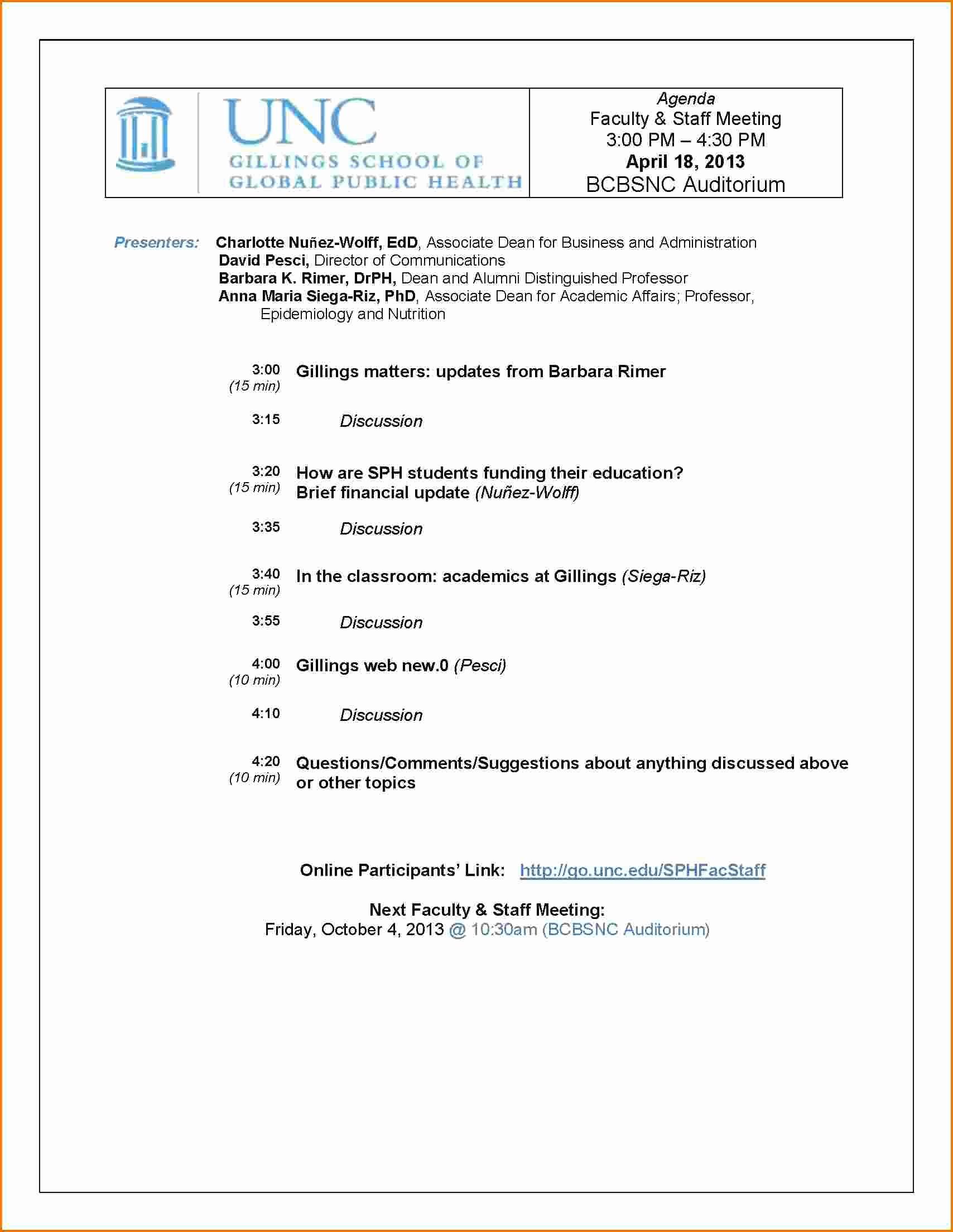Agenda format for A Meeting Beautiful 6 Meeting Agendas