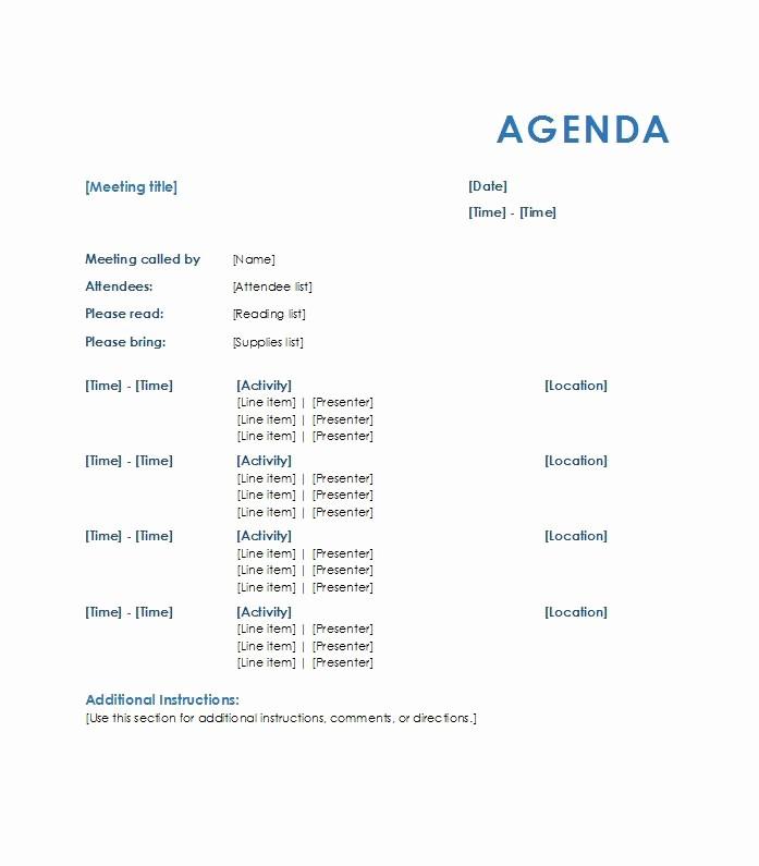 Agenda format for A Meeting Elegant 46 Effective Meeting Agenda Templates Template Lab