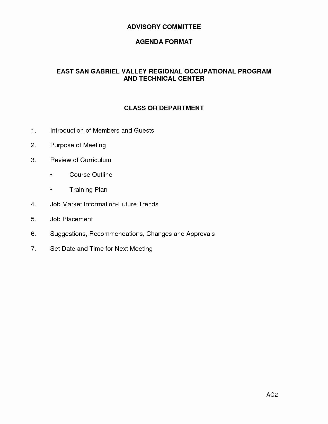 Agenda format for A Meeting Elegant Agenda Template Word Example Mughals