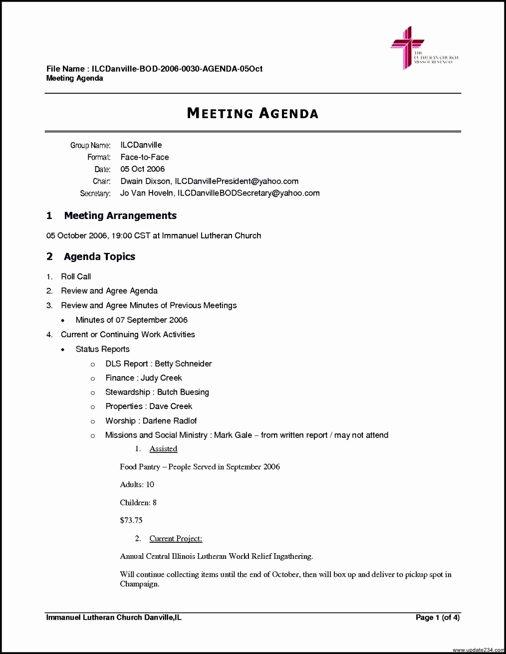 Agenda format for A Meeting Fresh Free Business Meeting Agenda Template Template Update234