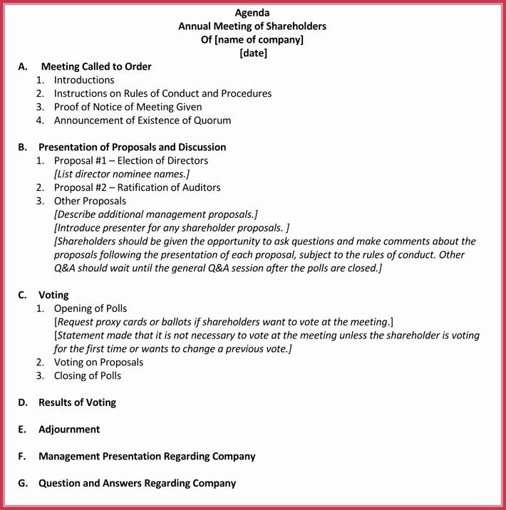 Agenda Sample for Business Meeting Best Of Business Meeting Agenda Templates 9 Best Samples In Pdf