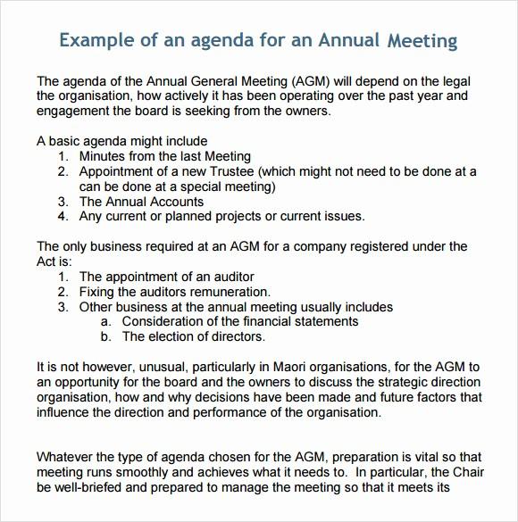 Agenda Sample for Business Meeting New 6 Sample Business Meeting Agenda Templates to Download