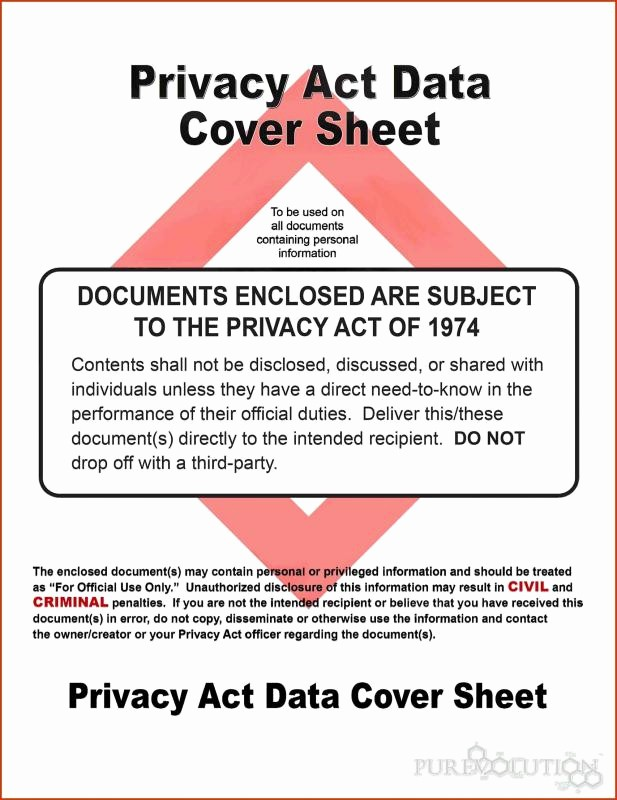 Air force Fax Cover Sheet Fresh Privacy Act Data Cover Sheet Pikeoductoseb