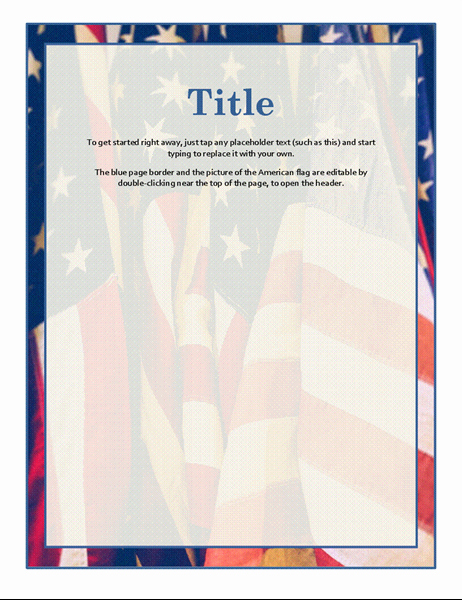 American Flag Border for Word Awesome Flyers Fice