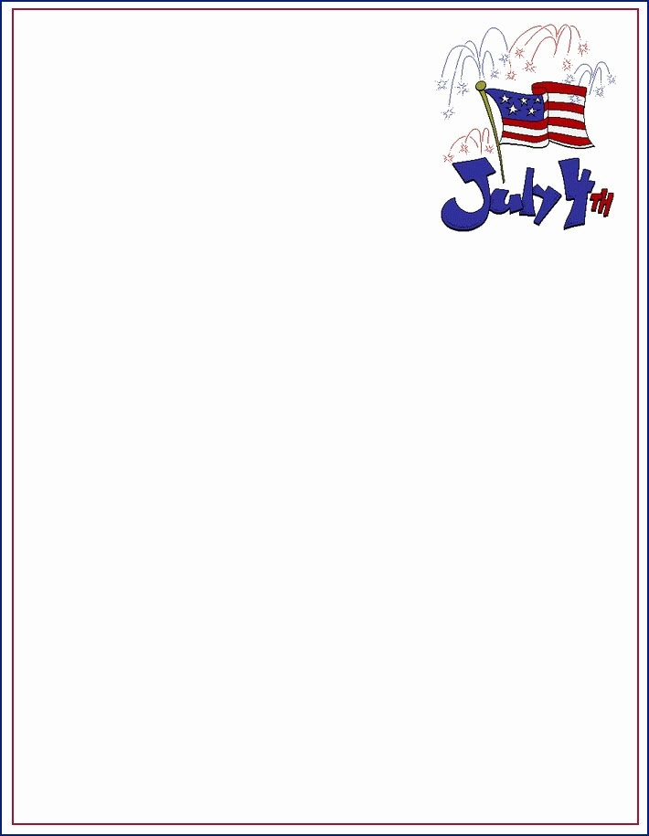 American Flag Border for Word Beautiful 105 Best 4th July Sationery Images On Pinterest