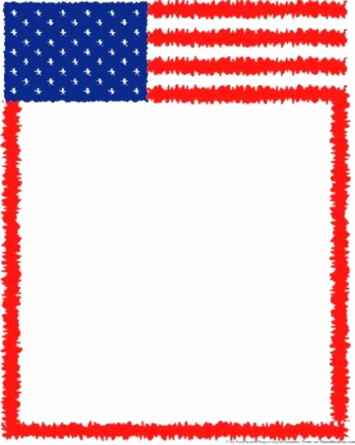 American Flag Border for Word Beautiful Flag Clip Art Border Clipart Best