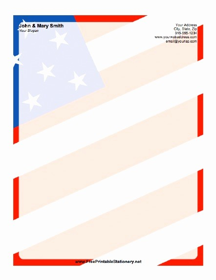 American Flag Border for Word Best Of American Flag Background Stationery