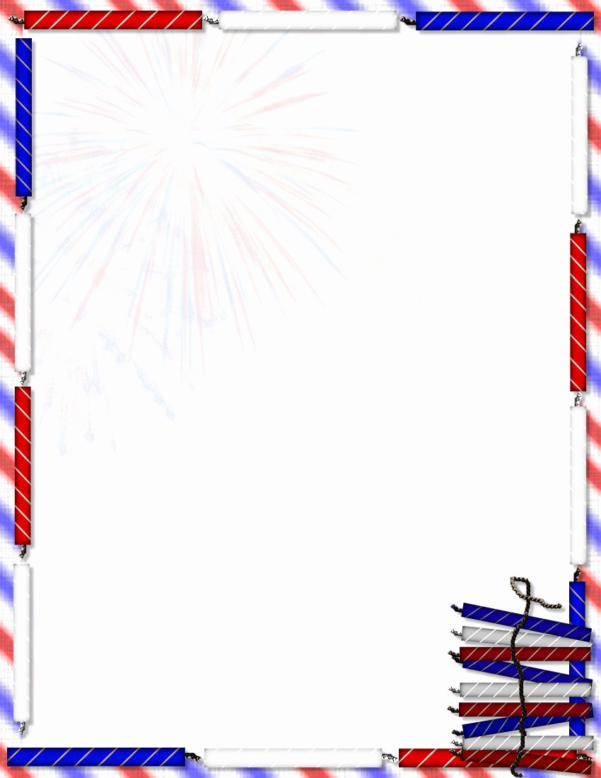 American Flag Border for Word Best Of Patriotic Stationery themes Page 1