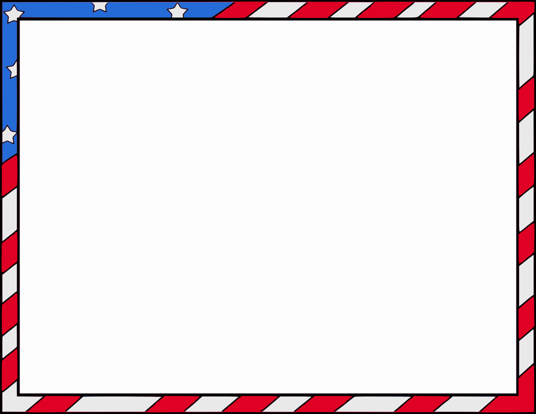 American Flag Border for Word Elegant Patriotic Border Clipart Clipart Suggest