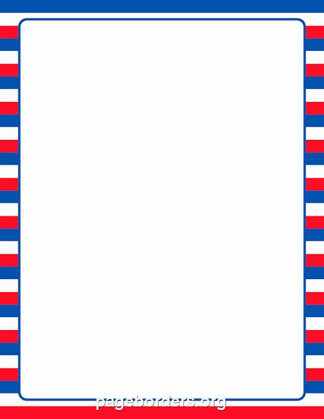 American Flag Border for Word Elegant Patriotic Striped Border Clip Art Page Border and