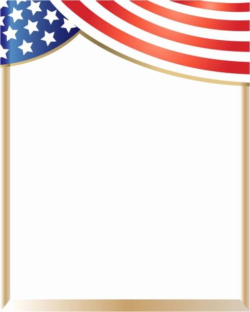 American Flag Border for Word Elegant Royalty Free Patriotic Border Clip Art Vector