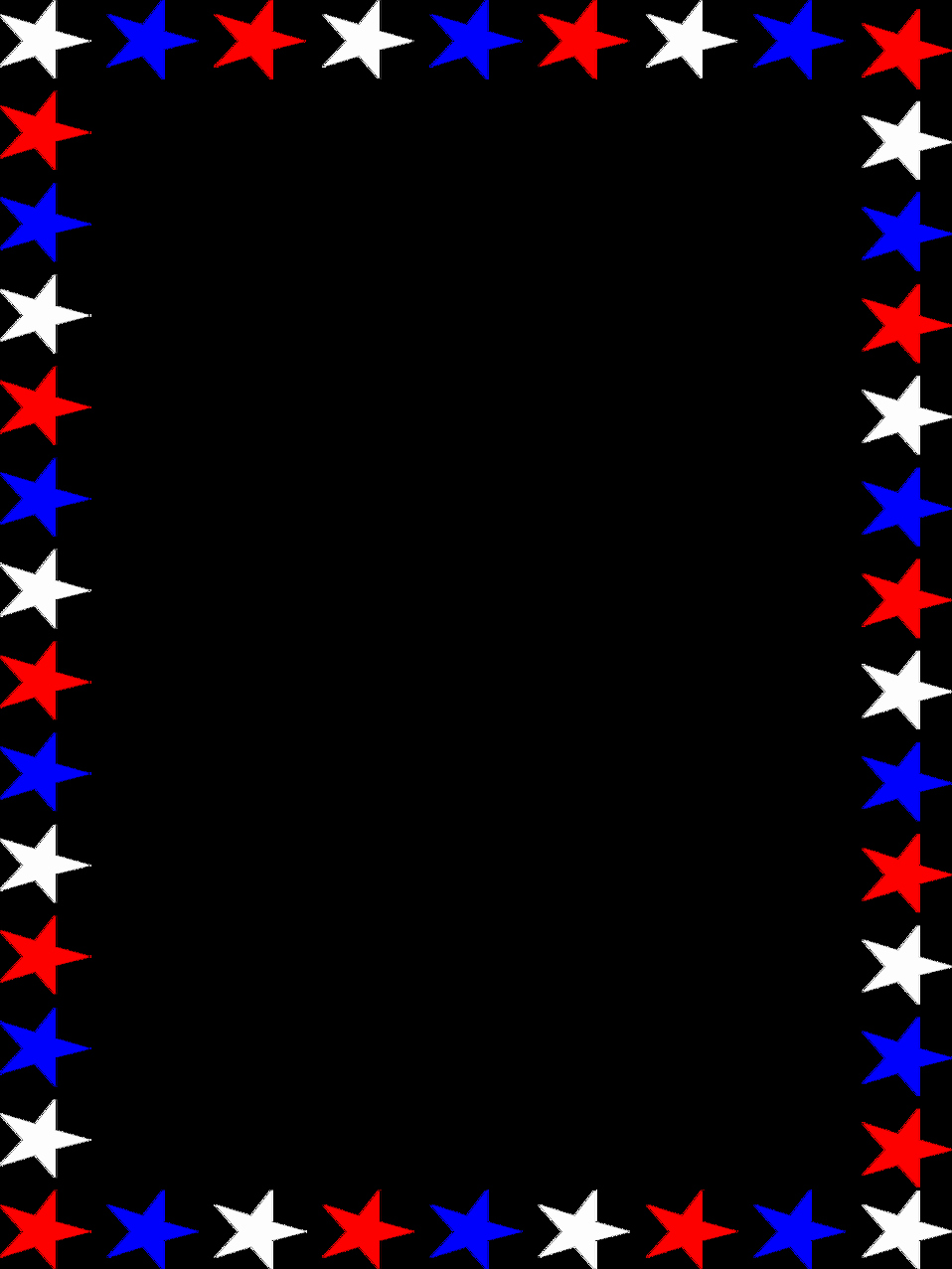 American Flag Border for Word Elegant Stars Free Stock