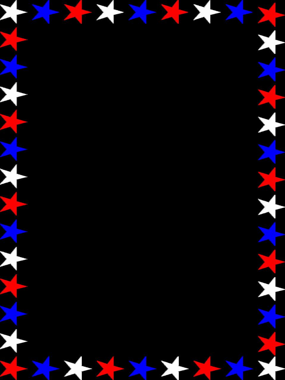 American Flag Border for Word Elegant Stars Free Stock