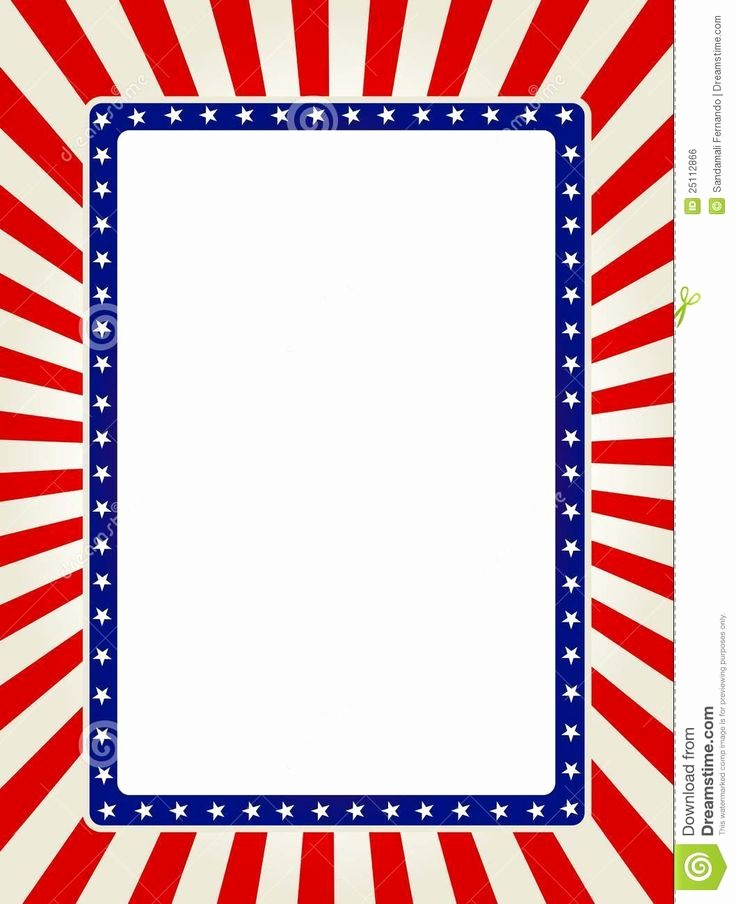 American Flag Border for Word Inspirational 134 Best Images About Printables On Pinterest