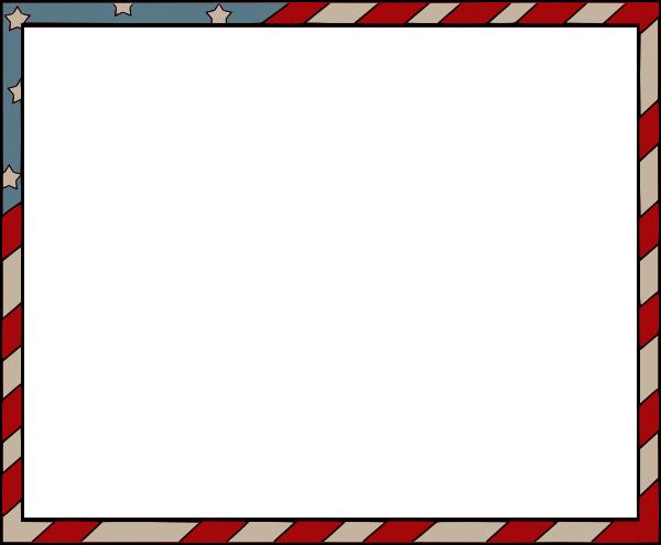 American Flag Border for Word Inspirational American Flag Border Clip Art at Clker Vector Clip