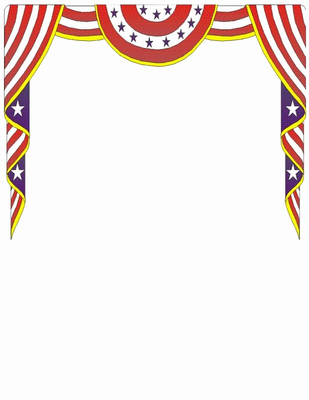 American Flag Border for Word Lovely 105 Best 4th July Sationery Images On Pinterest