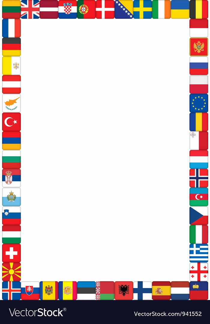 American Flag Border for Word Lovely Frame Made Of Flags Royalty Free Vector Image Vectorstock
