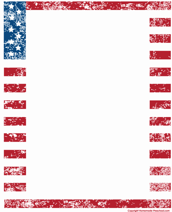 American Flag Border for Word Luxury Military Border Clip Art – 101 Clip Art