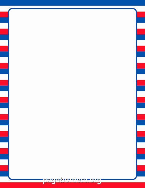 American Flag Border for Word Luxury Printable Patriotic Striped Border Use the Border In