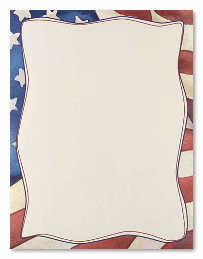 American Flag Border for Word Unique 7 Best Of Free Printable Patriotic Stationary