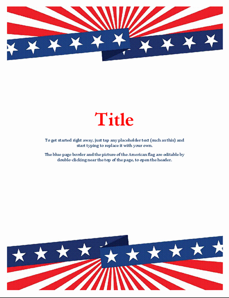 American Flag Border for Word Unique Flyers Fice
