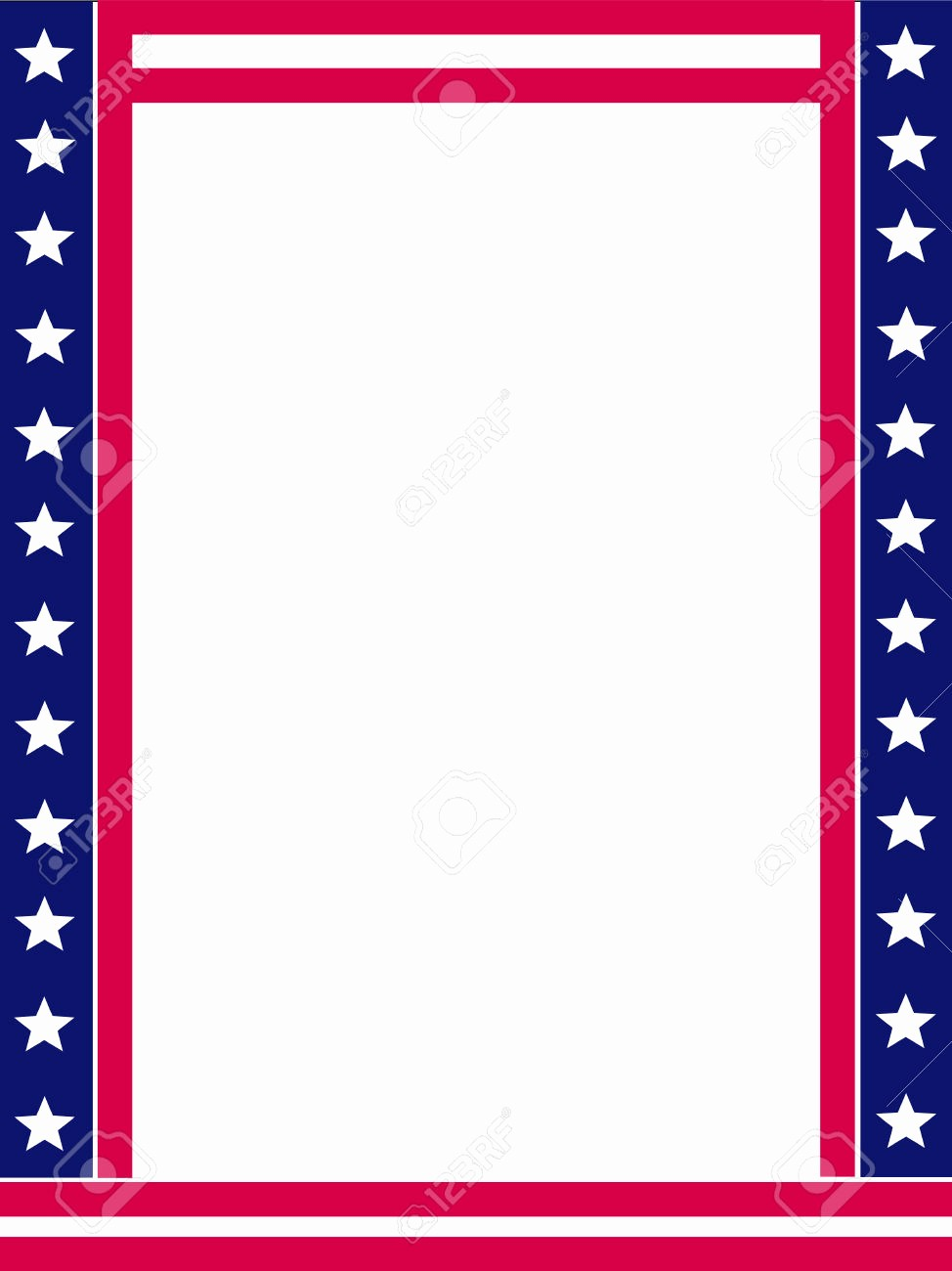 American Flag Border for Word Unique Patriotic Page Borders