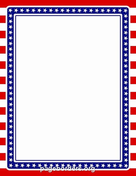 American Flag Border for Word Unique Printable Stars and Stripes Border Use the Border In