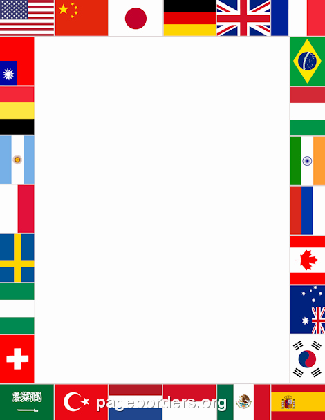 American Flag Border for Word Unique Printable World Flags Border Use the Border In Microsoft