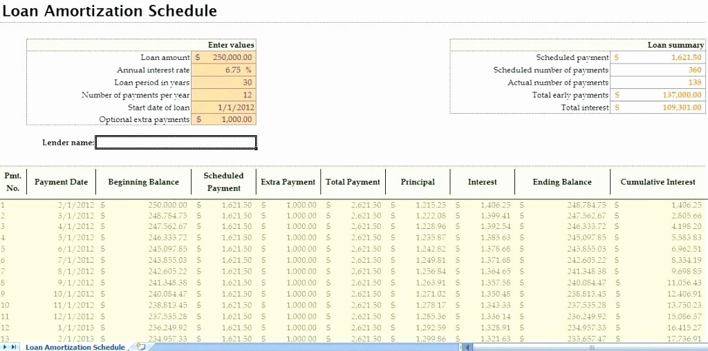 Amortization Calculator with Additional Payments Best Of Excel Mortgage Amortization Schedule with Extra Payments