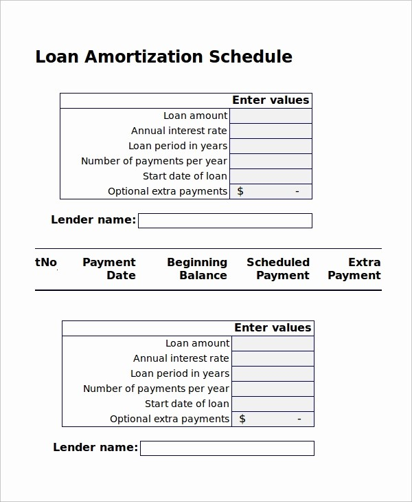 Amortization Chart with Extra Payments Fresh 8 Excel Amortization Schedule Samples