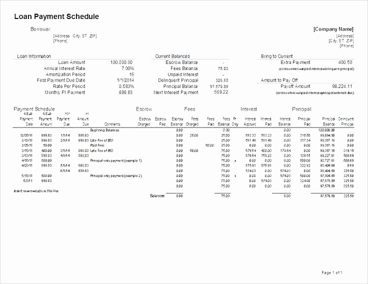 Amortization Schedule with Variable Payments Beautiful Amortization Schedule Calculator Excel – Studiorc