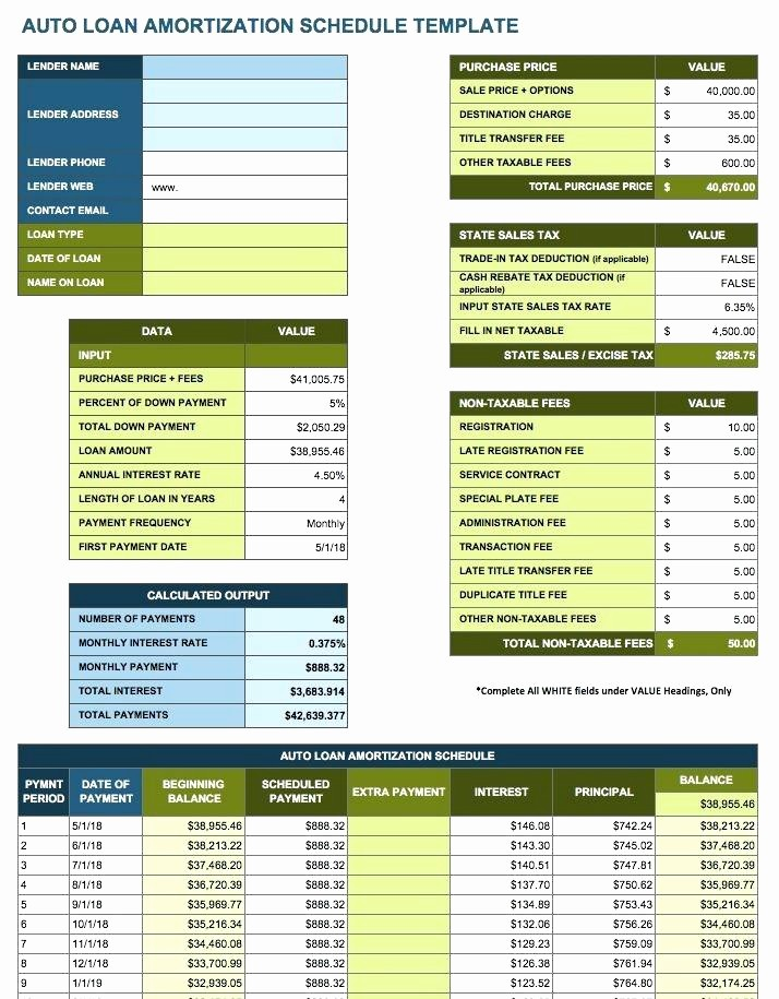 Amortization Schedule with Variable Payments Unique Amortization Table Excel Sample Schedules Loan