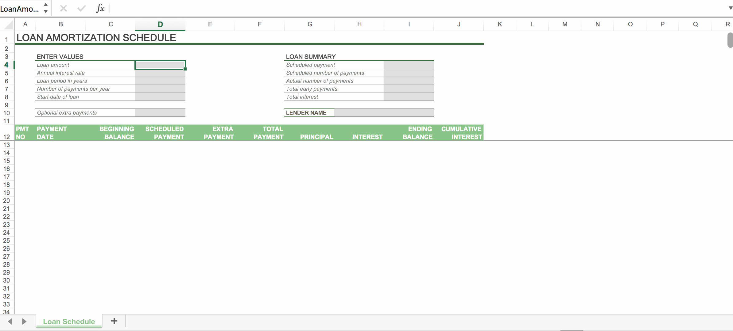 Amortization Table with Balloon Payment New Excel Loan Amortization Schedule with Balloon Payment