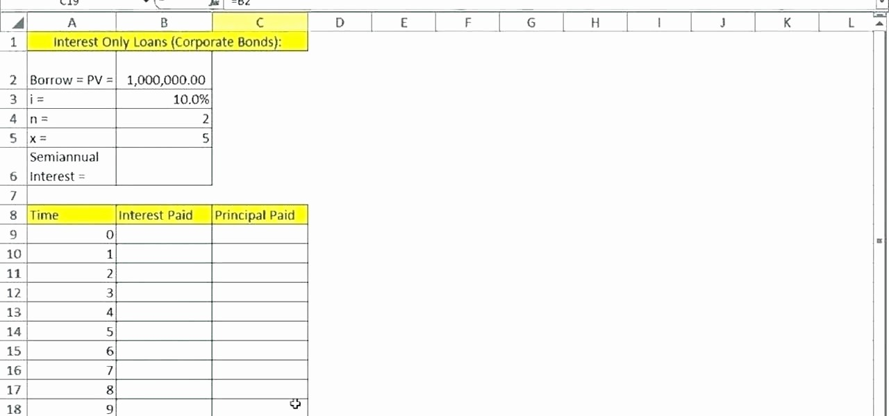 Amortization Table with Balloon Payment Unique Amortization Schedule with Balloon Payment Excel Loan