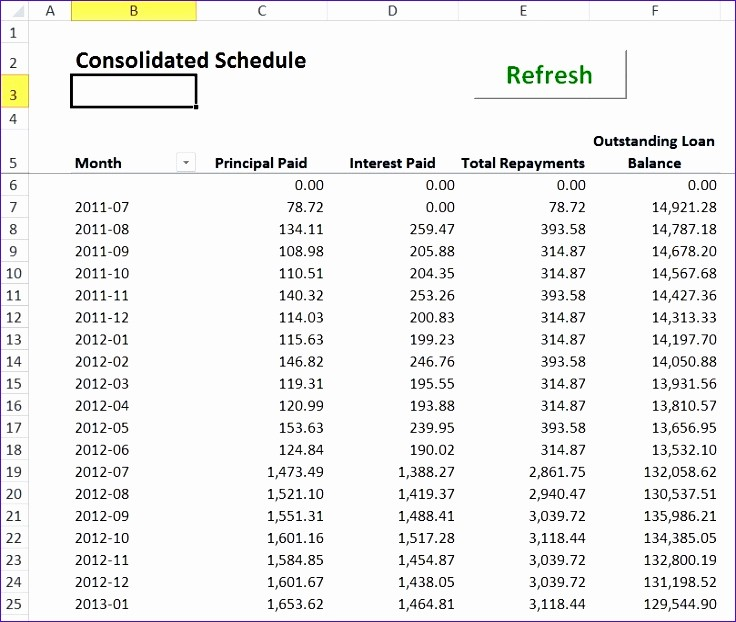 Amortization with Balloon Payment Calculator Fresh 14 Excel Loan Calculator Template Exceltemplates