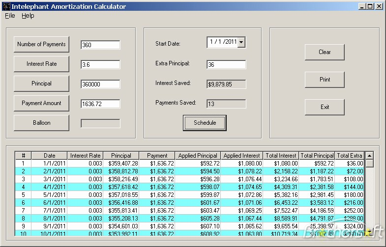 Amortization with Balloon Payment Calculator Luxury Download soft365s