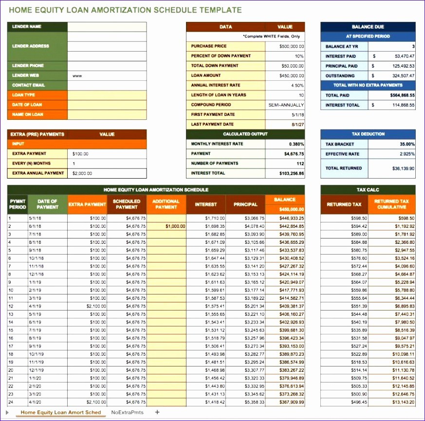 Amortize A Loan In Excel Inspirational 10 Monthly Amortization Schedule Excel Template