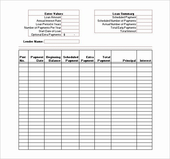 Amortize A Loan In Excel Inspirational Capital Lease Amortization Schedule Excel Template Loan