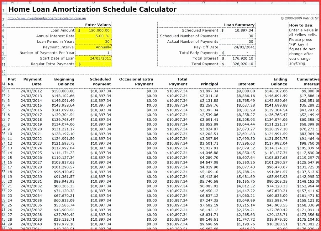 Amortize A Loan In Excel Unique Amortization formulas Excel Schedule formula with Extra