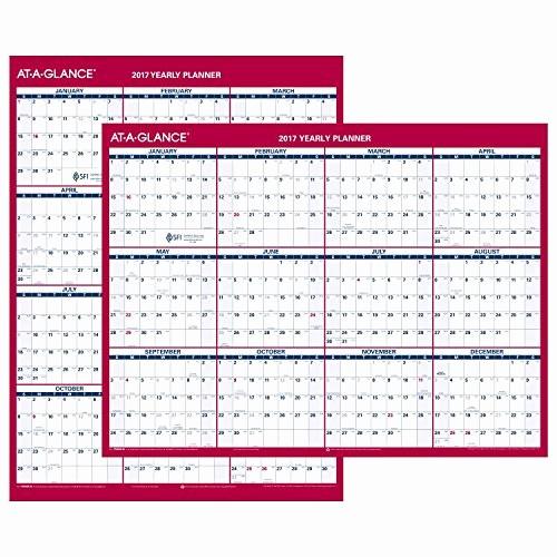 Annual Calendar at A Glance Beautiful at A Glance Wall Calendar 2017 Vertical Horizontal