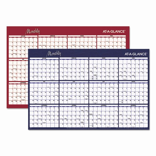Annual Calendar at A Glance Fresh Bettymills Reversible Horizontal Erasable Wall Planner